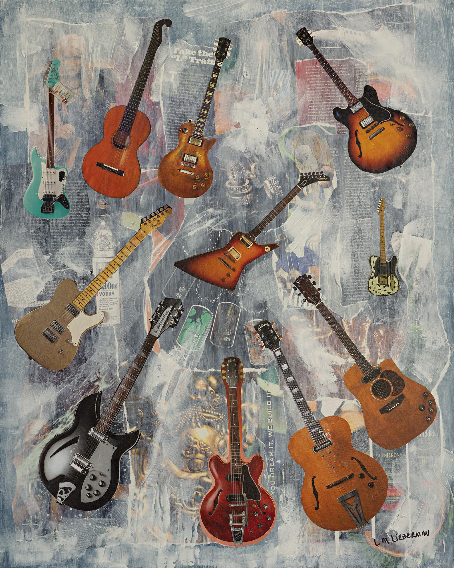 L. M. Lieberman, You Dream It, We Build it. Mixed Media Original Artwork