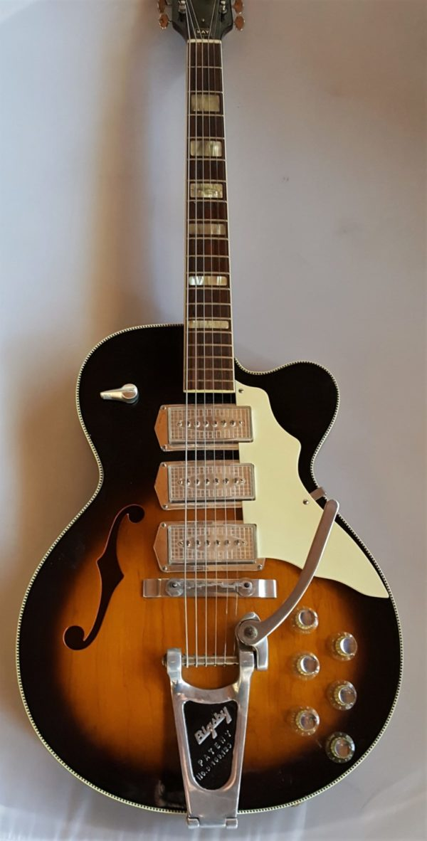 Kay Swingmaster  Model 673 Archtop with Triple Kleenex Pickups Acoustic Electric Guitar