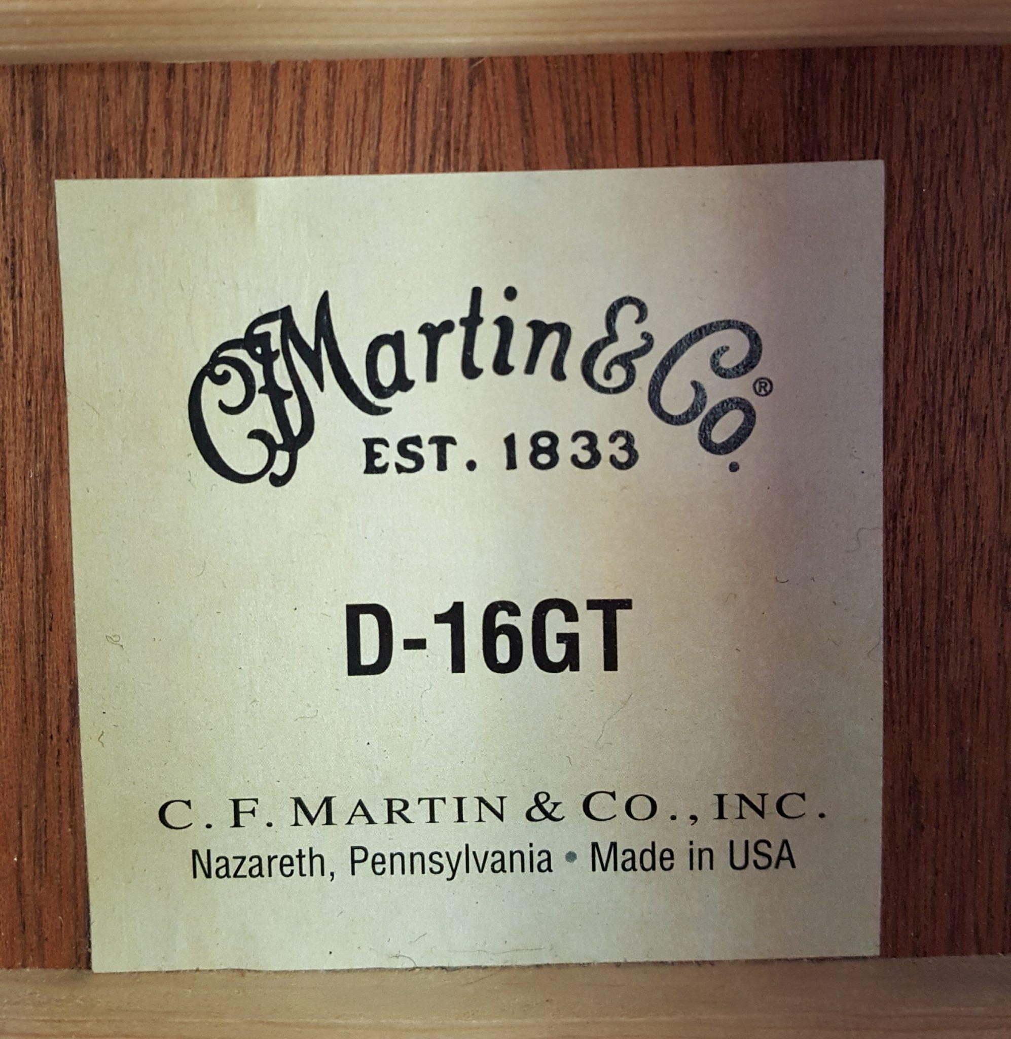 Martin D-16GT Dreadnought Acoustic Guitar
