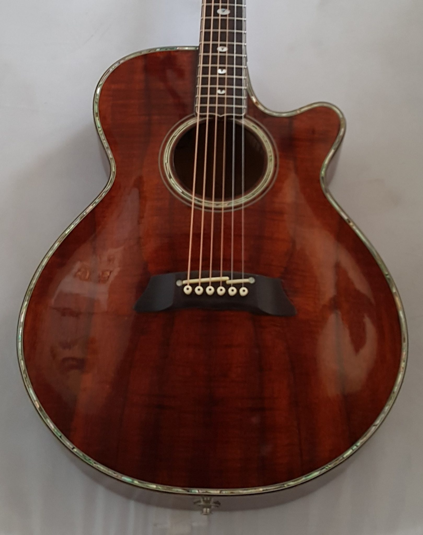 Takamine LTD 91 Acoustic Electric KOA Wood Abalone Pearl Inlays 1991