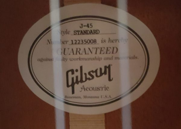 Gibson J45 Standard Acouostic Electric 2015
