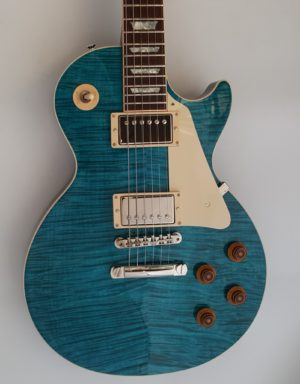 Gibson Les Paul Custom Pro Aqua Blue Flametop Mint w OHSC 2016