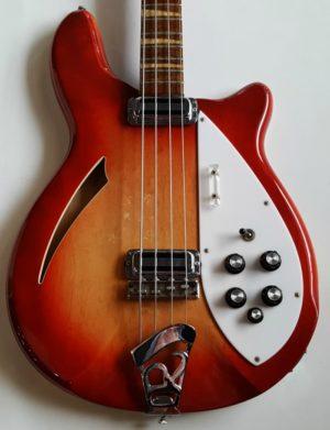Rickenbacker 4005 4 String Bass Fireglo Hollow Body 1967