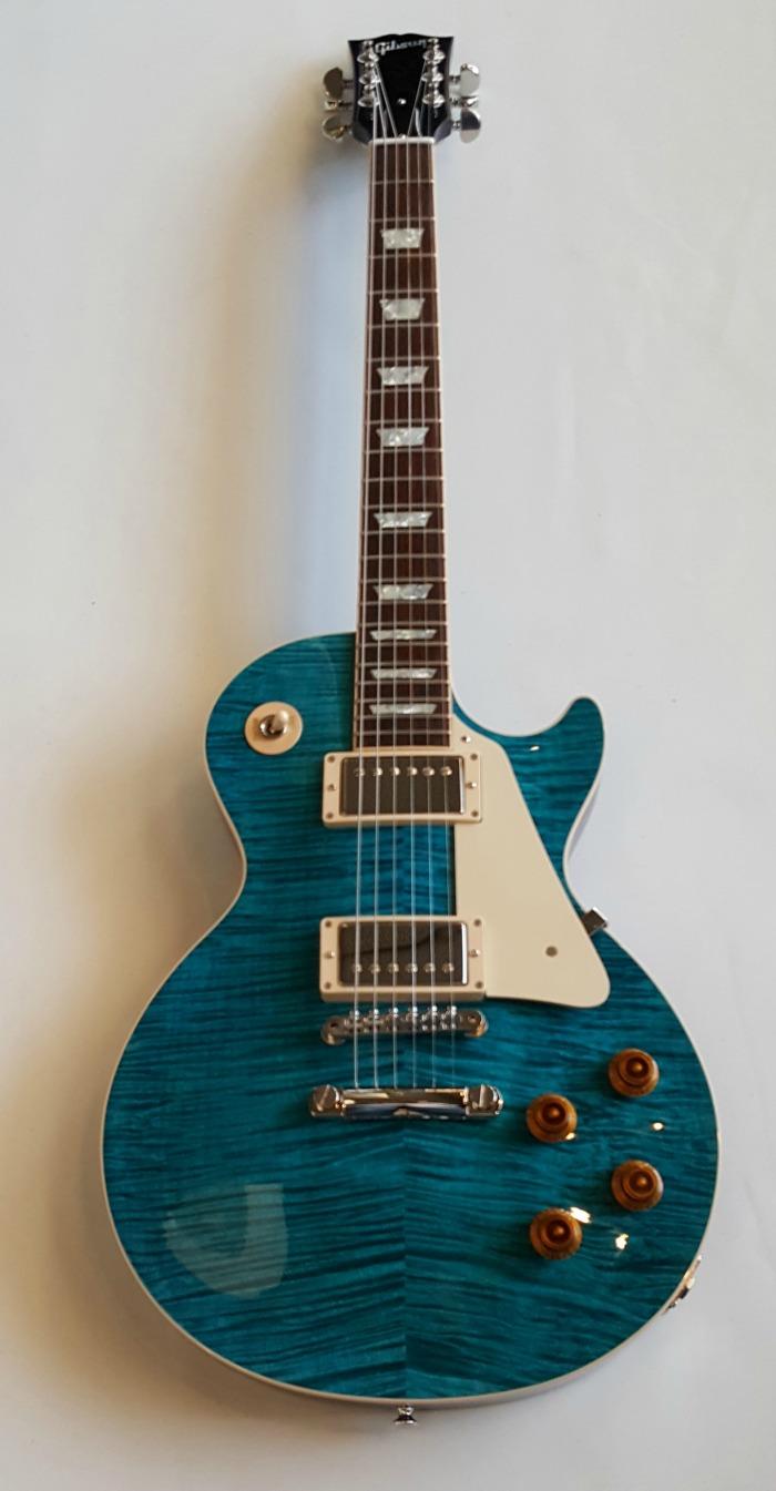 gibson les paul custom pro aqua blue flametop mint w ohsc 2016 guitar pickers. Black Bedroom Furniture Sets. Home Design Ideas
