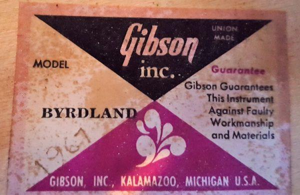 Gibson Byrdland 1967 Tobacco Sunburst